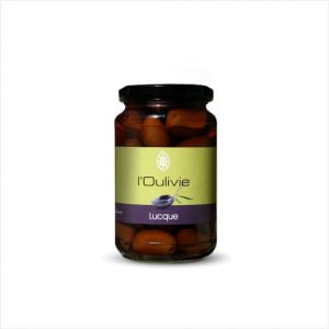 Olives Lucques noires du Domaine de L'Oulivie bocal de 200g