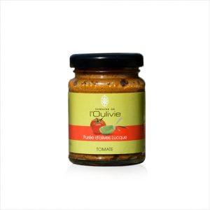 Purée d'olive Lucques à la tomate du domaine de L'Oulivie à toaster