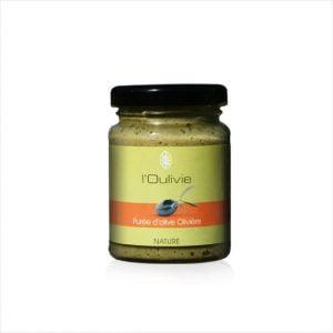 Purée d'olive verte variété Olivière finement broyée du Domaine de L' Oulivie