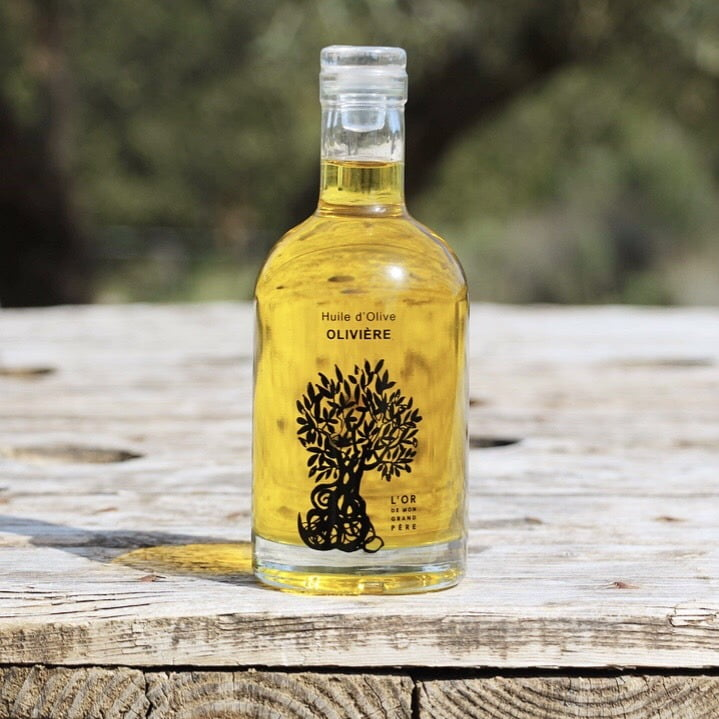 Cuvée Prestige Olivière : offre du mois du Domaine L'Oulivie. Huile d'olive goûteuse, fruitée mûre et ardente