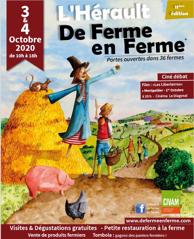 Portes Ouvertes De Ferme en Ferme les 3&4 Octobre à Domaine L'Oulivie