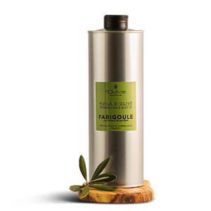 Huile d'olive La Farigoule,spécialité du Domaine de L'Oulivie.